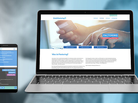 TYPO3 Webdesign: Neues Corporate Design für Crefo Factoring Fulda-Erfurt-Magdeburg TYPO3 Website