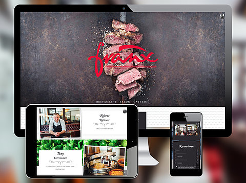 Webdesign: Restaurant Franx mit TYPO3 Website