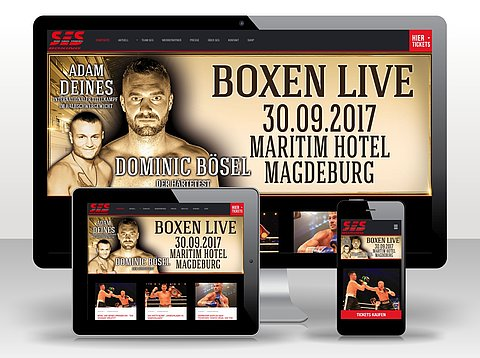 Webdesign: We proudly present! Webdesign für SES-Boxing mit TYPO3 CMS